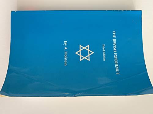 Jewish Experience : Biblical Period: Jay A. Holstein