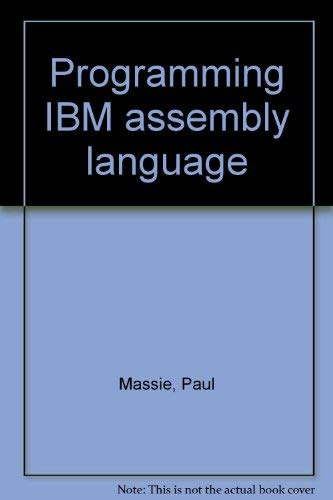 9780808764052: Programming IBM assembly language