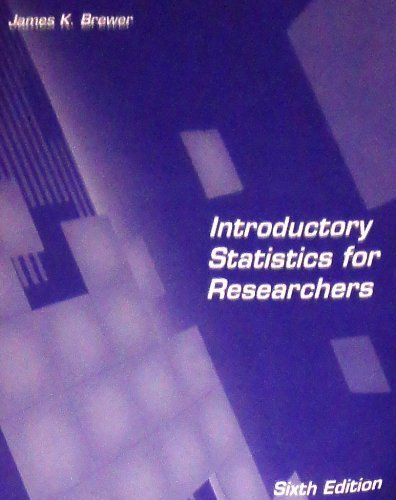 9780808784937: Introductory statistics for researchers
