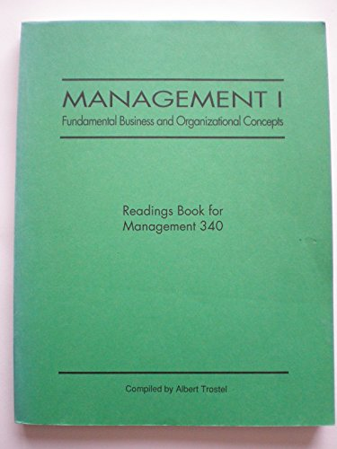 9780808794783: Management I: Fundamental Business and Organizational Concepts. Readings Book for Management 340