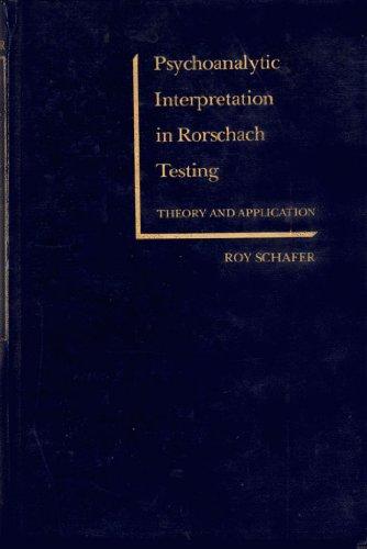 9780808904045: Psychoanalytic Interpretation in Rorschach Testing
