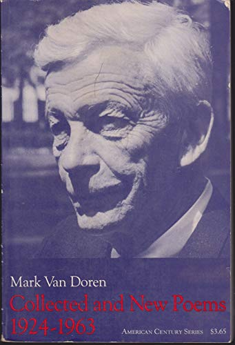Collected and new poems, 1924-1963: Van Doren, Mark