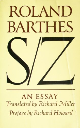 9780809013777: S/Z: An Essay