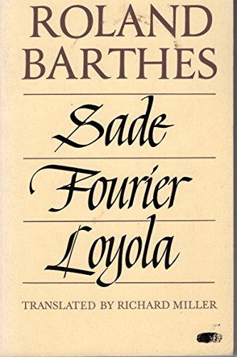 9780809013814: Sade/ Fourier/ Loyola