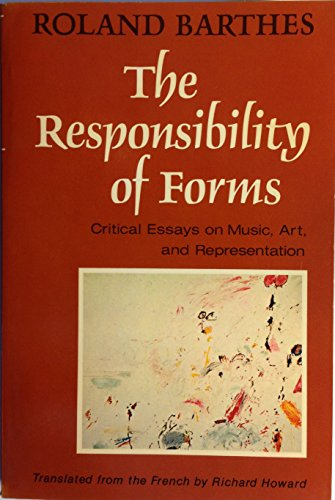 9780809015221: The Responsibility of Forms: Critical Essays on Music, Art, and Representation (English and French Edition)