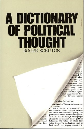 9780809015245: A Dictionary of Political Thought