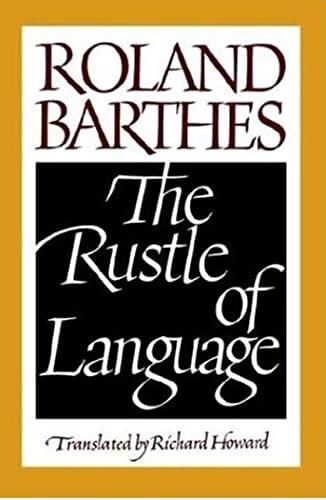 9780809015276: The Rustle of Language