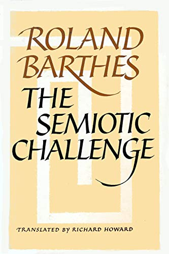 9780809015382: Semiotic Challenge (English and French Edition)
