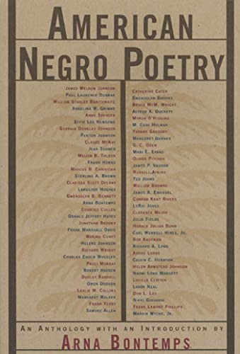 American Negro Poetry : An Anthology: Bontemps, Arna Wendell