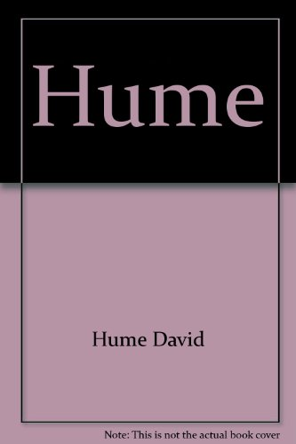 9780809056156: Hume (Past masters series)