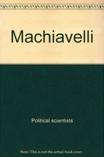 9780809067060: Machiavelli