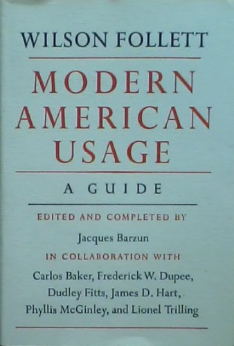 9780809069507: Modern American Usage: A Guide