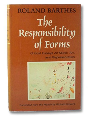 9780809080755: The Responsibility of Forms: Critical Essays on Music, Art, and Representation