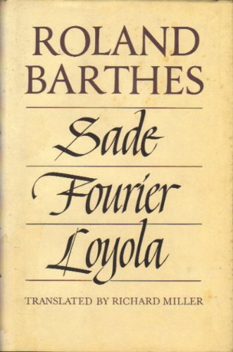 9780809083800: Sade, Fourier, Loyola (English and French Edition)