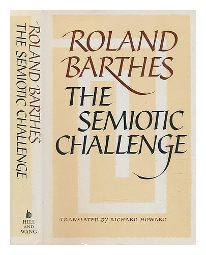 9780809085293: The Semiotic Challenge (English and French Edition)