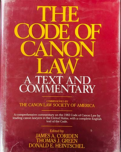 9780809103454: The Code of Canon Law: A Text and Commentary