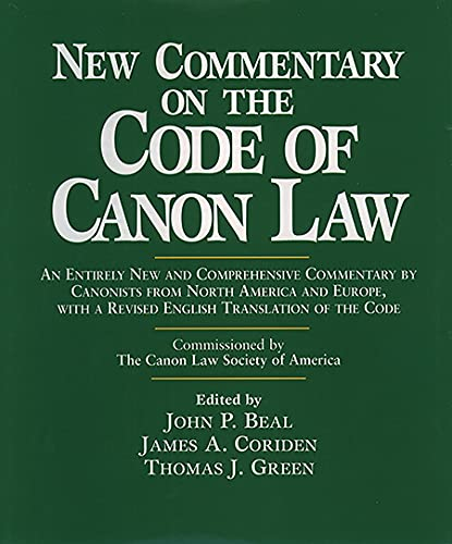 9780809105021: New Commentary on the Code of Canon Law