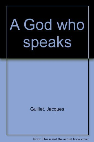 9780809121953: A God who speaks [Paperback] by Guillet, Jacques