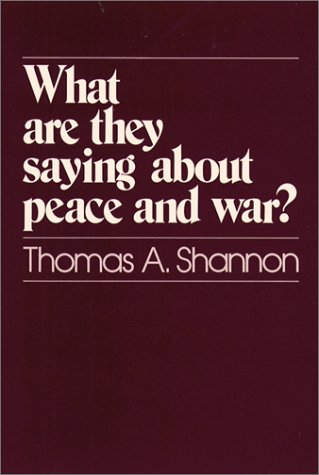 9780809124992: What Are They Saying About Peace and War?
