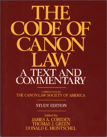 9780809128372: The Code of Canon Law: Text & Commentary