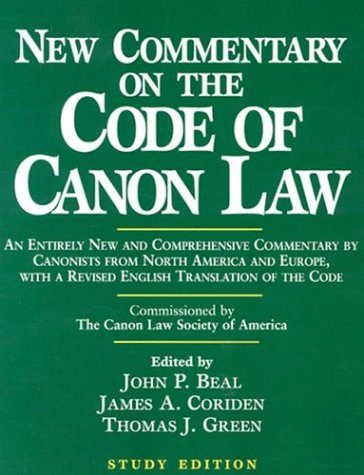 9780809140664: New Commentary on the Code of Canon Law: Study Edition