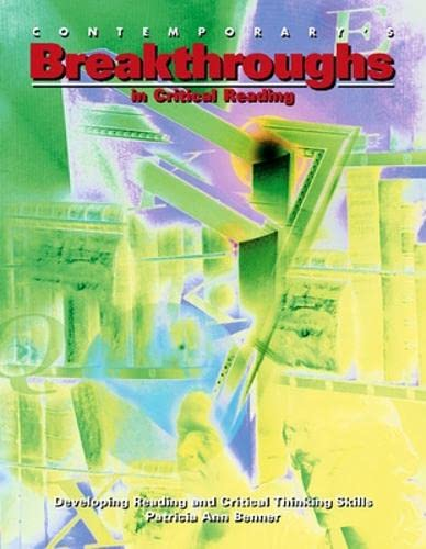 Breakthroughs in Critical Reading: Patricia Ann Benner;