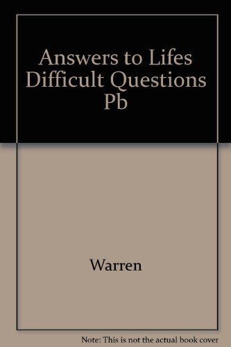 9780809229918: Answers to Life's Difficult Questions: Sound Advice from the Bible on Our Challenges, Struggles, and Fears
