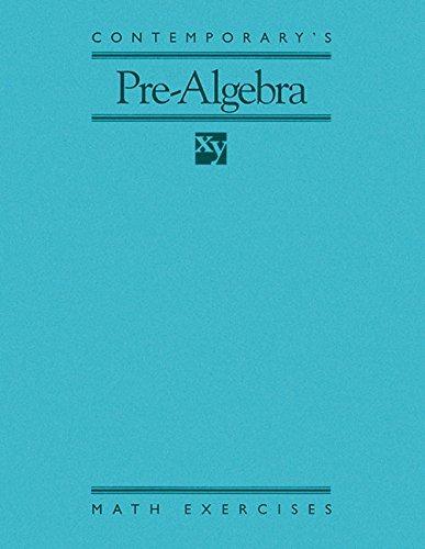 9780809236510: Contemporary's Pre-Algebra: Math Exercises