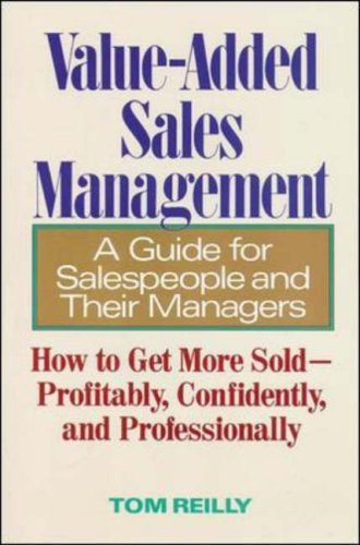 Value-Added Sales Management (9780809237876) by Tom Reilly