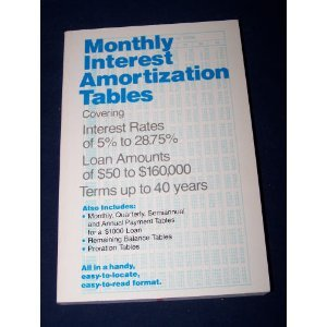 9780809254170: Monthly Interest Amortization Tables