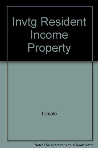 Investing in Residential Income Property: Temple, Douglas M.