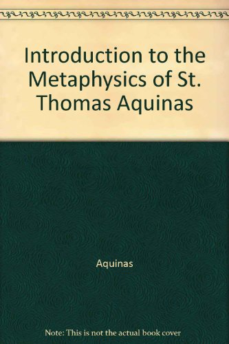 9780809261284: Introduction to the Metaphysics of St. Thomas Aquinas