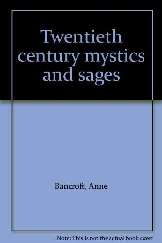 9780809281480: Twentieth century mystics and sages