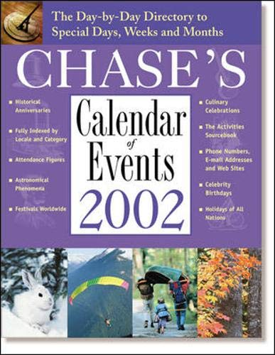 9780809295432: Chase's Calendar of Events 2002 : The Day-to-Day Directory to Special Days, Weeks, and Months