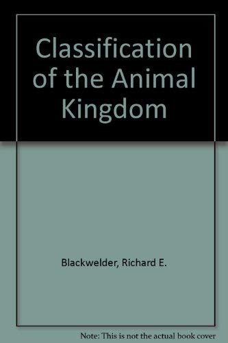 9780809300969: Classification of the Animal Kingdom