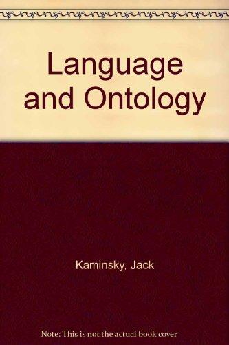 9780809303670: Language and Ontology