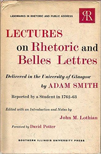 9780809305025: Lectures on Rhetoric and Belles Lettres (Landmarks in Rhetoric & Public Address)