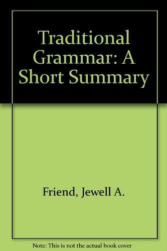 9780809307425: Traditional Grammar, Revised Edition: A Short Summary