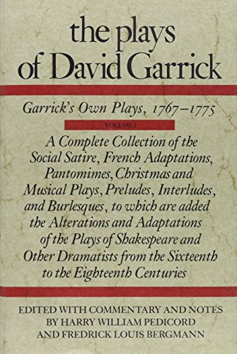 9780809308637: Plays of David Garrick: 002