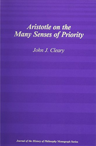 Aristotle on the Many Senses of Priority.: CLEARY, John J.: