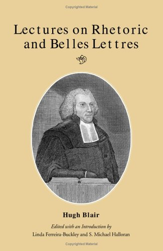 9780809317547: Lectures on Rhetoric and Belle-Lettres