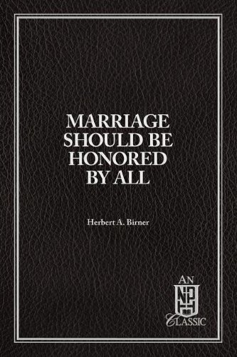 9780810001305: Marriage should be honored by all