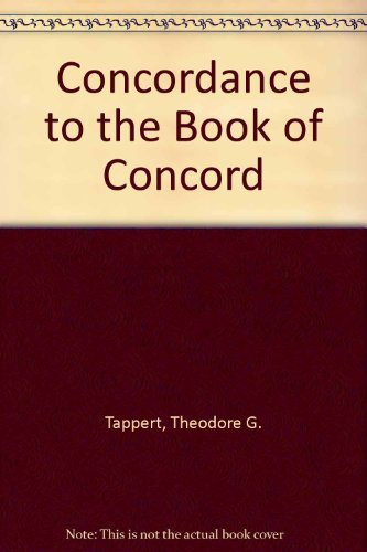 Concordance to the Book of Concord