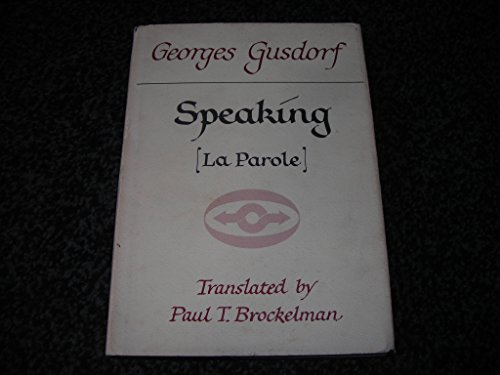 Speaking: Georges Gusdorf