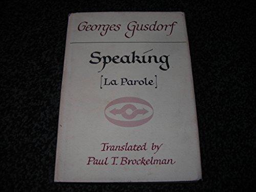 9780810101111: Speaking