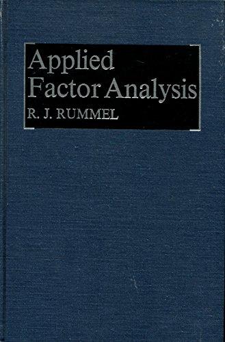 Applied factor analysis: Rummel, R. J.,Rummel,