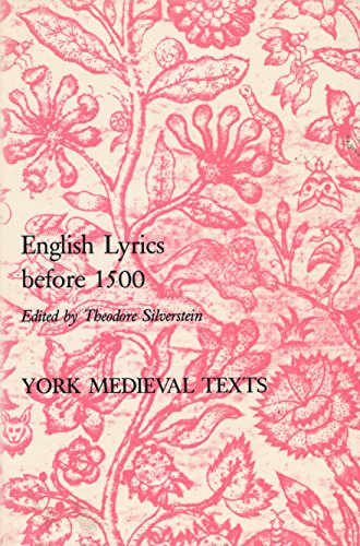 9780810103542: English Lyrics Before 1500 (York Medieval Texts. Second Series)