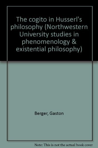 The Cogito in Husserl's Philosophy (Northwestern University Studies in Phenomenology & ...
