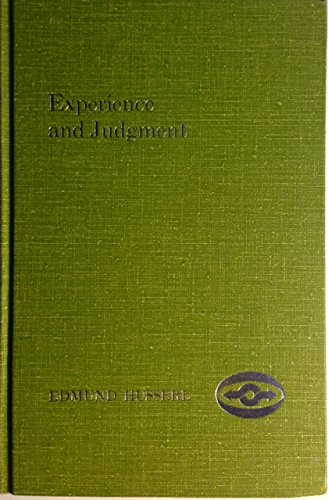 9780810103962: Experience and Judgment: Investigations in a Genealogy of Logic (English and German Edition)