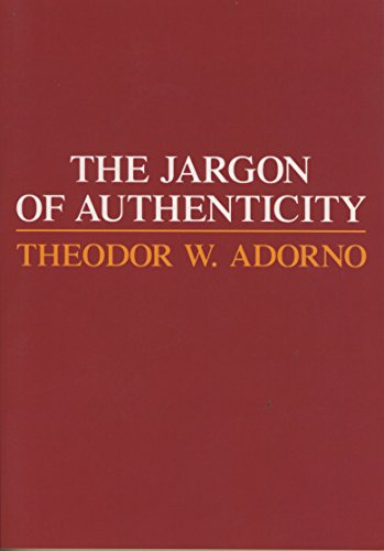 9780810104075: Jargon of Authenticity